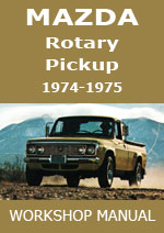 Mazda Rotary Pickup 1974-1974 Workshop Repair Manual