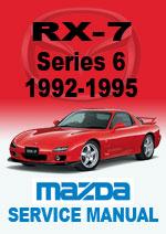 Mazda Rx7 Series 6 1992 1995 Workshop Manual